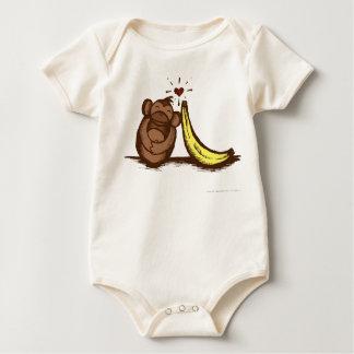 Enredadera del bebé del amor del plátano traje de bebé