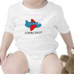 Enredadera del bebé del dibujo animado del aeropla camiseta