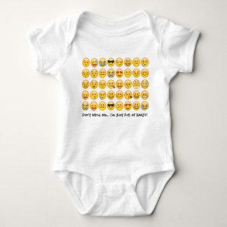 Enredadera del mono del bebé de Emoji Body Para Bebé