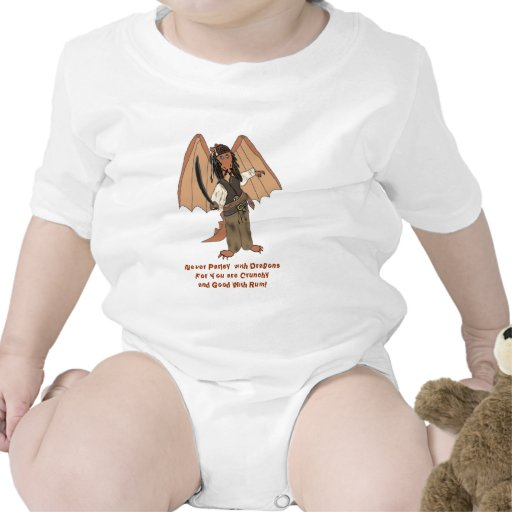 Enredadera del niño del dragón del pirata traje de bebé