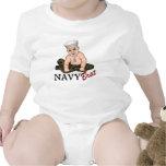 Enredadera del niño del palo de golf de la marina  traje de bebé