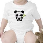 Enredadera feliz del niño de la panda del bebé traje de bebé