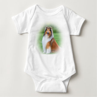 Enredadera infantil del perro hermoso del collie, camisetas