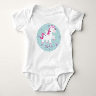 Enredadera mágica rosada linda del bebé del body para bebé