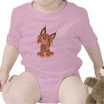Enredadera traviesa del bebé del lince del dibujo traje de bebé