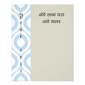 enrejado, morrocan, azul claro, modelo, de moda, folleto 11,4 x 14,2 cm