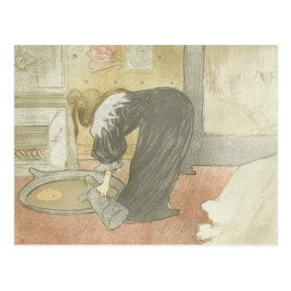 Enrique de Toulouse-Lautrec - Elles - mujer en la Postal