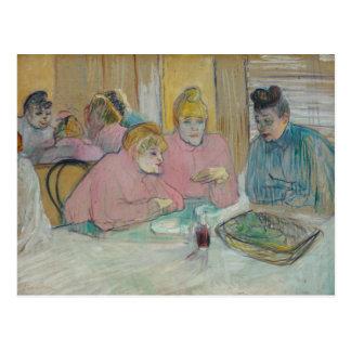 Enrique de Toulouse-Lautrec - señoras en comedor Postal