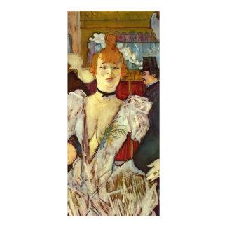 Enrique - La Goulue de Lautrec- que llega el Diseño De Tarjeta Publicitaria