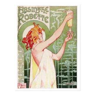 Enrique-Privat-Livemont. Ajenjo Robette 1896 Postal