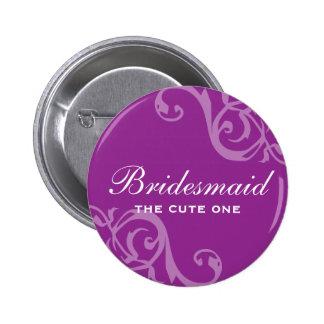 Enrolle el botón púrpura del perno de la insignia  pins