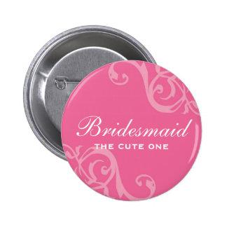 Enrolle el botón rosado del perno de la insignia d pin