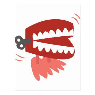 Enrolle para arriba los dientes postal