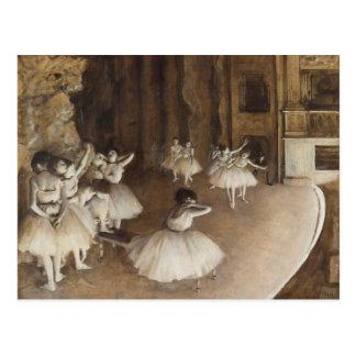 Ensayo del ballet en la etapa el | Edgar Degas Postal