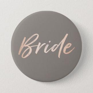 Ensayo del boda de la novia chapa redonda de 7 cm