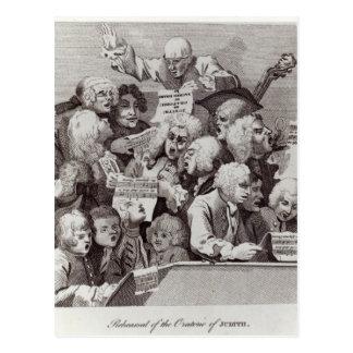Ensayo del oratorio de Judith, 1734 Postal