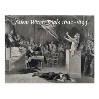 Ensayos de la bruja de Salem del vintage, postal