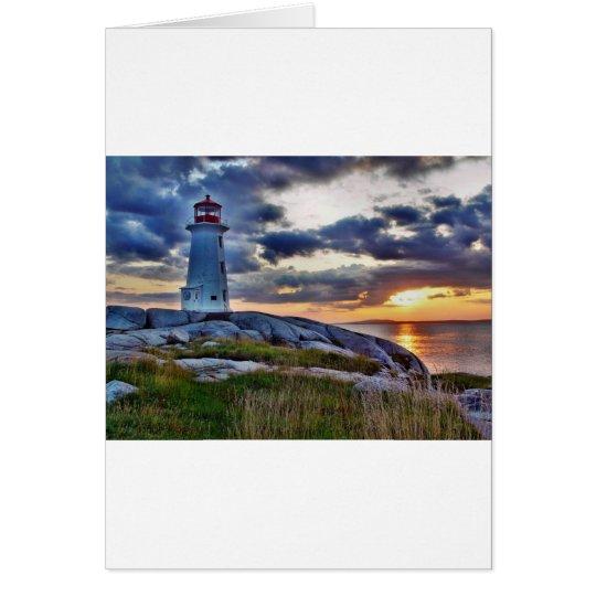 Ensenada Nueva Escocia Canadá de Peggies Tarjeta De Felicitación