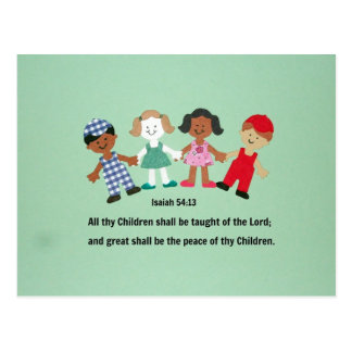 Enseñarán el 54:13 de Isaías y todos thy niños Postal
