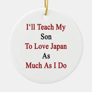 Enseñaré a mi hijo a amar Japón tanto como lo hago Adorno De Reyes