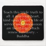 Enseñe a esta verdad triple a todos: Un corazón ab Tapete De Ratones