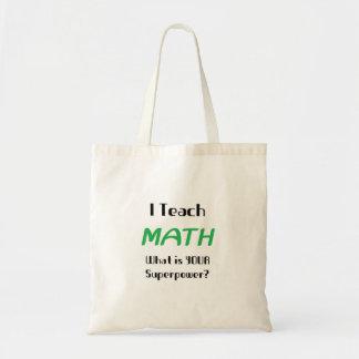Enseñe a la matemáticas bolsa