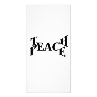 Enseñe a la paz tarjetas fotográficas