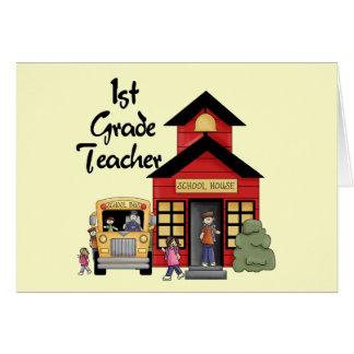 Enseñe las 1ras camisetas y regalos del profesor d felicitacion