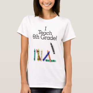 Enseño al 6to grado camiseta