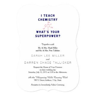 ¿Enseño química a cuál es su superpotencia? Invitación Personalizada
