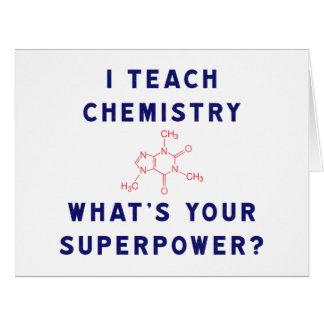 ¿Enseño química a cuál es su superpotencia? Tarjeta