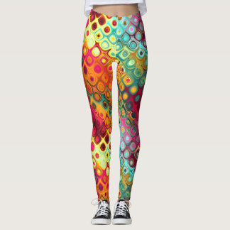Ensueños coloridos del extracto leggings