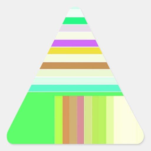 Entarimado reconstruido pegatina trianguladas personalizadas