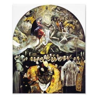 Entierro de El Greco de la cuenta de la impresión  Fotografias