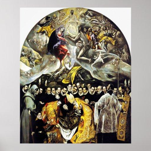 Entierro de El Greco de la cuenta del poster de Or