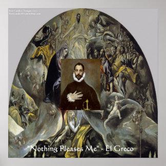 Entierro de El Greco del poster de la cuenta y de