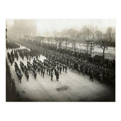 Entierro de general Joffre, el 8 de enero de 1931 Postal