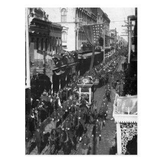 Entierro de Jefferson Davis en New Orleans: 1908 Tarjeta Postal