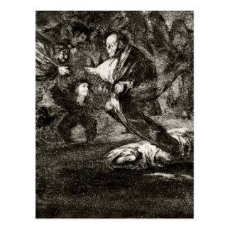 Entierro de la absurdidad de Francisco Goya Postal