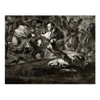 Entierro de la absurdidad de Francisco Goya- Postal