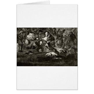 Entierro de la absurdidad de Francisco Goya Tarjeta De Felicitación