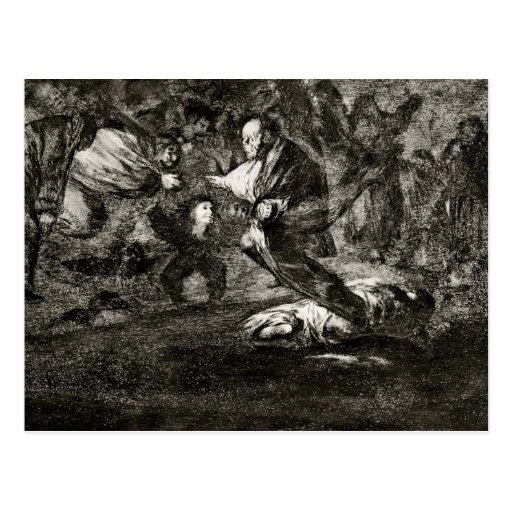 Entierro de la absurdidad de Francisco Goya- Postales