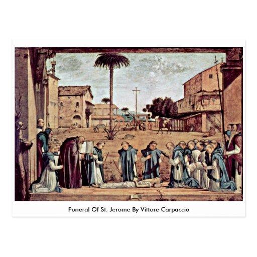 Entierro de St Jerome de Vittore Carpaccio Tarjeta Postal
