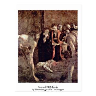 Entierro de St Lucia de Miguel Ángel DA Caravaggio Postal