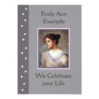 Entierro/estela/monumento florales adaptables invitacion personal
