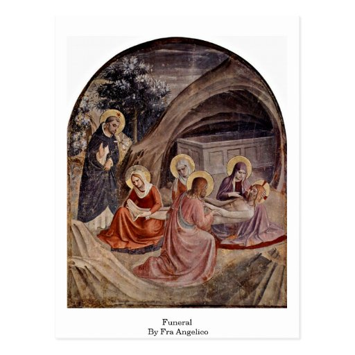 Entierro por Fra Angelico Postal