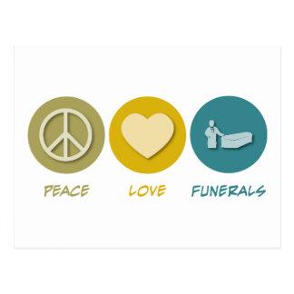 Entierros del amor de la paz tarjeta postal