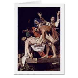 Entombment de Miguel Ángel Merisi DA Caravaggio Tarjeta De Felicitación