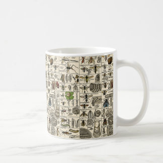 Entomología del vintage taza clásica