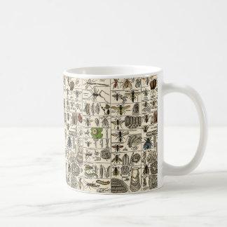 Entomología del vintage taza de café